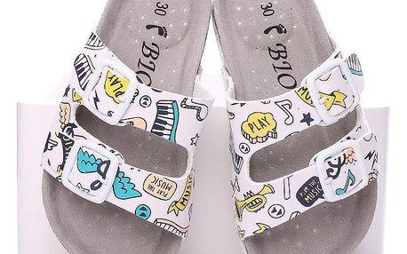 Timelook fashion Dětské pantofle C2240WH Velikost: 30 (17,5 cm)