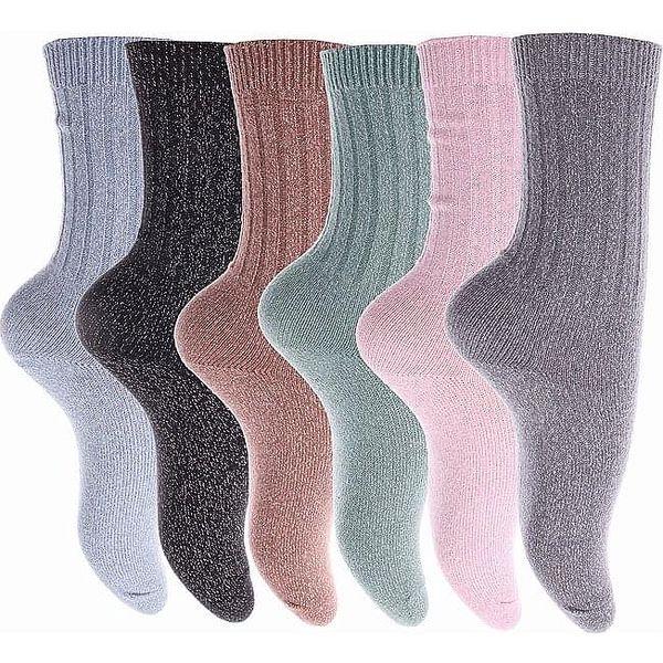 Pesail Třpytivé termo ponožky LY207BR Velikost: 35 - 382