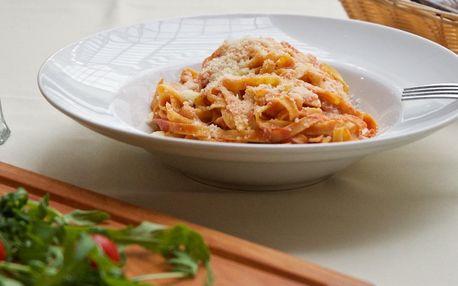 Oběd pro vás: těstoviny, rizoto či hovězí carpaccio