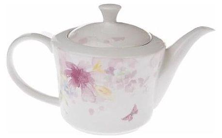 Porcelánová konvička na čaj Flower, 1,27 l