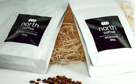 Balíček dvou výběrových zrnkových káv od NorthCoffee