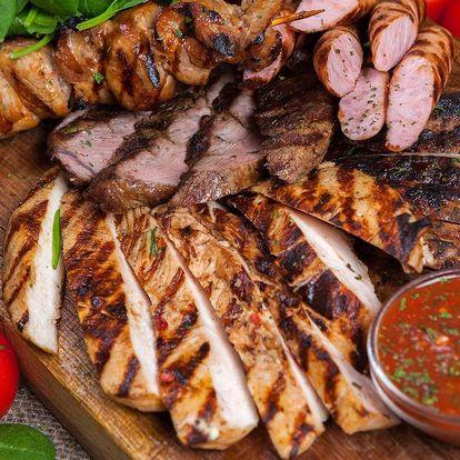 Mix gril s opečeným bramborem, BBQ a tatarkou