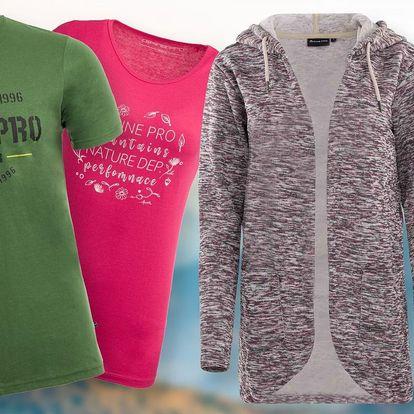 Sportovní trička, mikiny i kalhoty Alpine Pro