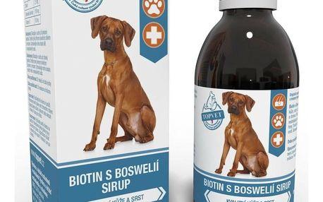 Topvet for pets Topvet Sirup Biotin s boswelií pro psy