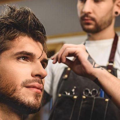 Pánský střih, úprava vousů i holení břitvou