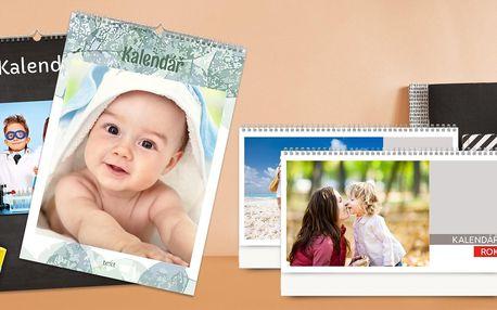 Stolní i nástěnné kalendáře z vlastních fotek