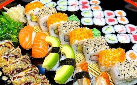 Sushi ve Zlíně: 32 či 52 ks s lososem i chřestem