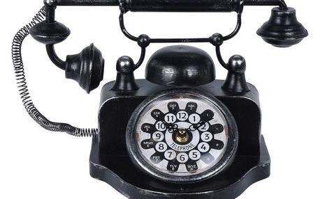 Stolní hodiny Old telephone, černá