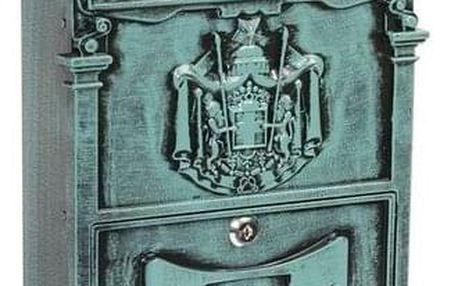 Poštovní ocelová schránka s hliníkovým čelem BK.301.ZEP, zelená