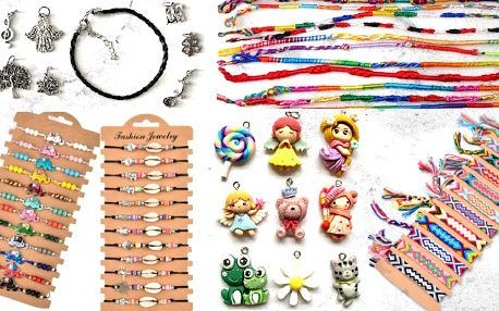 Náramky a sady na výrobu šperků nejen pro děti