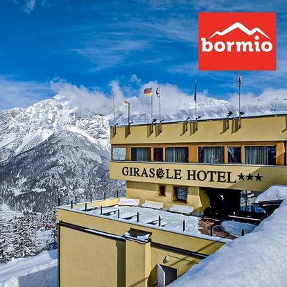 5denní Bormio se skipasem   Hotel Girasole*** přímo na svahu Bormio 2000   Doprava, polopenze a skipas v ceně