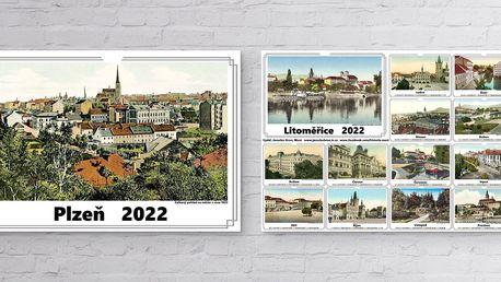 Kalendáře na rok 2022 s historickými fotkami měst