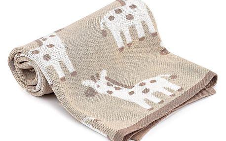 4Home Dětská bavlněná deka Giraffe, 70 x 90 cm