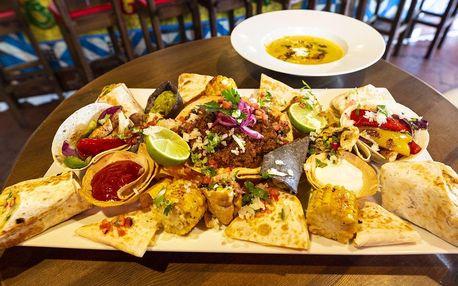 Mexické menu pro dva: polévka, hlavní jídlo i dezert