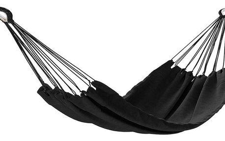 AmeliaHome Houpací závěsné lehátko Colada černá, 240 x 80 cm