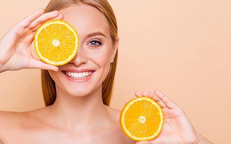 Hydratační pomerančovo-meruňkové ošetření obličeje