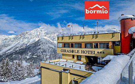 5denní Bormio se skipasem | Hotel Girasole*** přímo na svahu Bormio 2000 | Doprava, polopenze a skipas v ceně