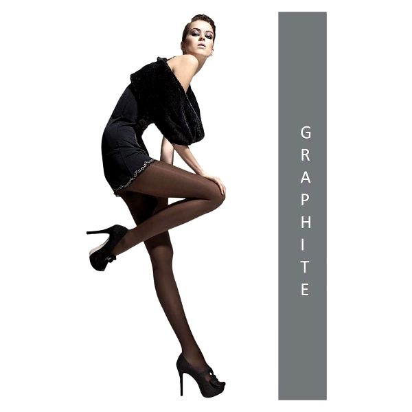 2x dámské punčocháče Fiore Paula 40 DEN | Velikost: 2 | Black2