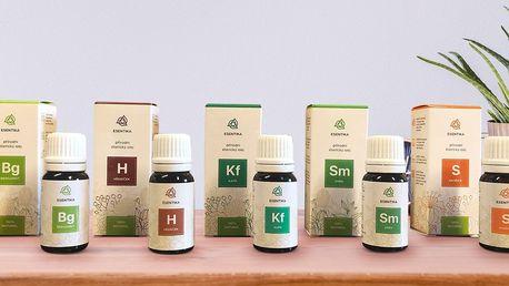 Esenciální éterické oleje Esentika: jednotlivě i v sadě