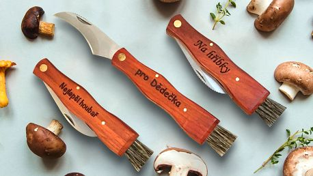Nůž na houby s gravírováním vlastního textu