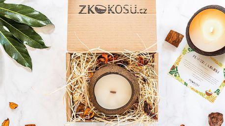 100% přírodní vonné svíčky v kokosové skořápce