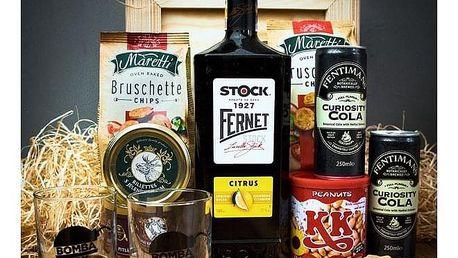 Dárková bedna s páčidlem pro muže Fernet Stock Citrus