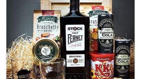 Dárková bedna s páčidlem pro muže Fernet Stock Original