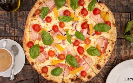 Pizza dle výběru i káva s sebou nebo na místě
