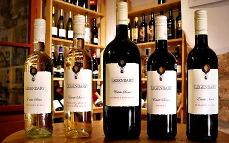 Otevřený voucher na vína značky Recas: 300 a 500 Kč
