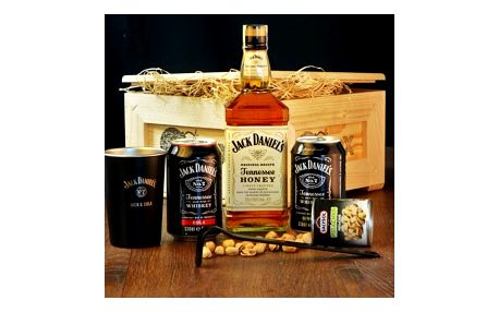 Dárková bedna s páčidlem pro muže Jack Daniel's Honey
