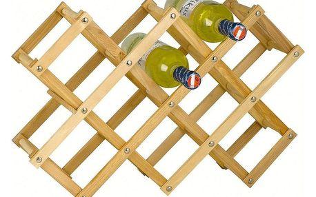 Dřevěný regál na 10 lahví