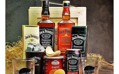 Dárková bedna s páčidlem pro muže Jack Daniel's & Fire
