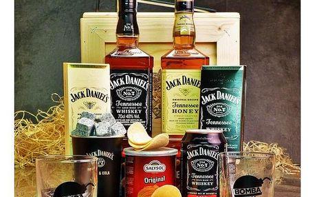 Dárková bedna s páčidlem pro muže Jack Daniel's & Honey
