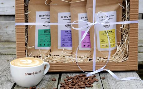 Degustační balíček 3 nebo 4 káv v dárkové krabičce