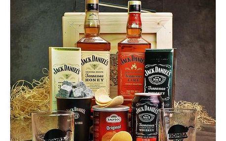 Dárková bedna s páčidlem pro muže Jack Daniel's Honey & Fire