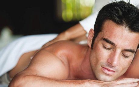 Balíček s masáží dle výběru pro muže v délce 70 min.