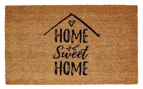 Vopi Kokosová rohožka Ruco print Home Sweet Home, 45 x 75 cm