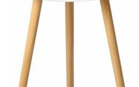 Tempo Kondela Příruční stolek Pamino, bílá