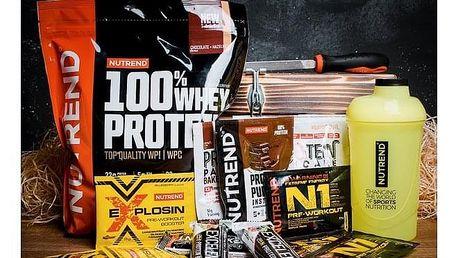 Dárková truhla pro muže a ženy Fitness NUTREND - Dárkový koš