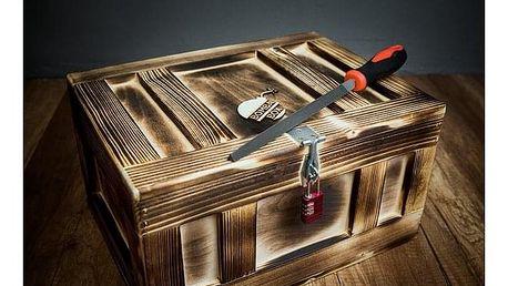 Dárková dřevěná truhla - střední