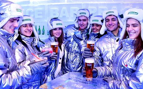 Říše mrazu: vstup a dva drinky v Ice Pub Prague