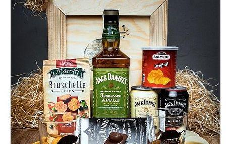 Dárková bedna s páčidlem pro muže s whiskey Jack Daniel's Apple