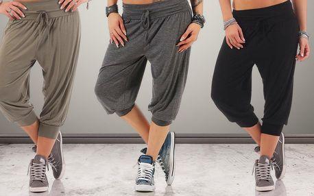 3/4 dámské kalhoty v harémovém stylu ve 3 barvách