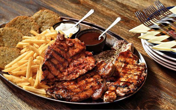 Masový mix z grilu či argentinský steak pro 2 osoby