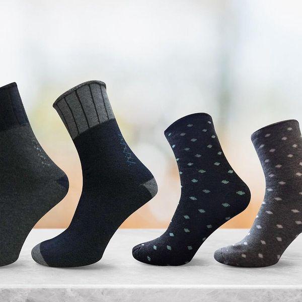 Pánské nebo dámské bavlněné termo ponožky