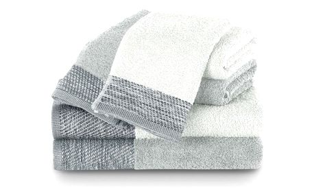 AmeliaHome Sada ručníků a osušek Aria bílá/stříbrná