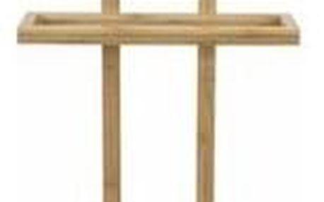 Bambusový stojan na oblečení s odkládací plochou Compactor Bamboo - 44,5 x 32 x 115 cm