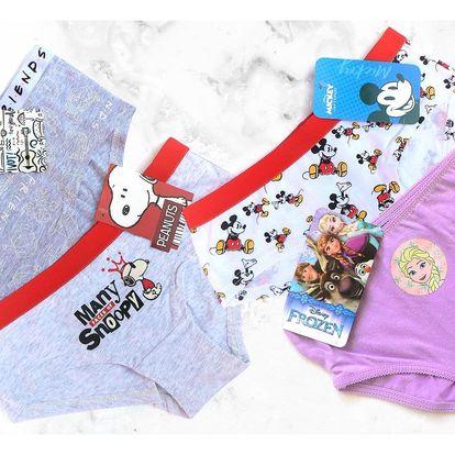 Dívčí spodní prádlo s motivem: Minnie i Frozen