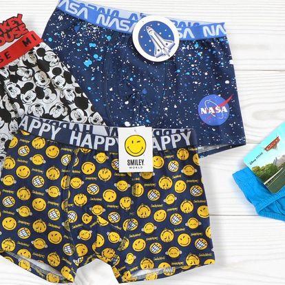 Chlapecké spodní prádlo s animovanými hrdiny