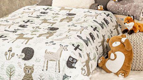 4Home Dětský přehoz na postel Nordic Friends, 140 x 200 cm